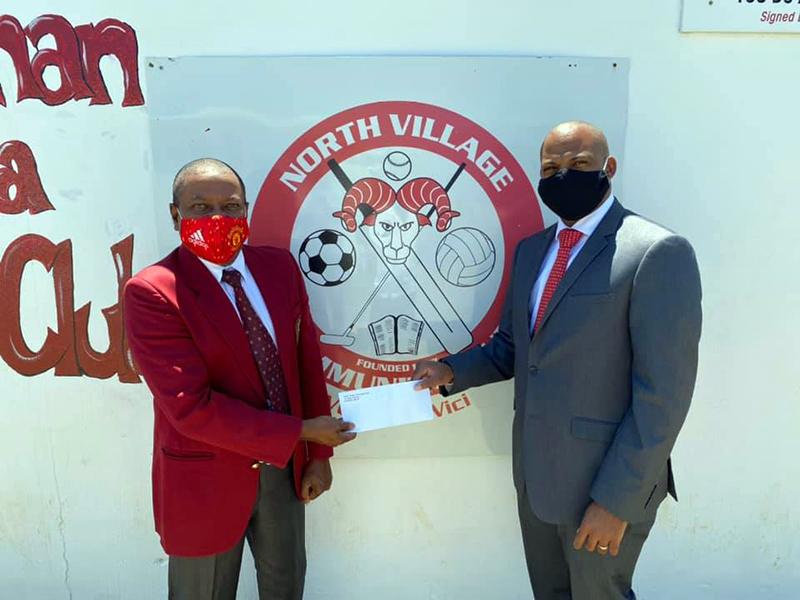 Minister Hayward Donates To NVCC Bermuda 3