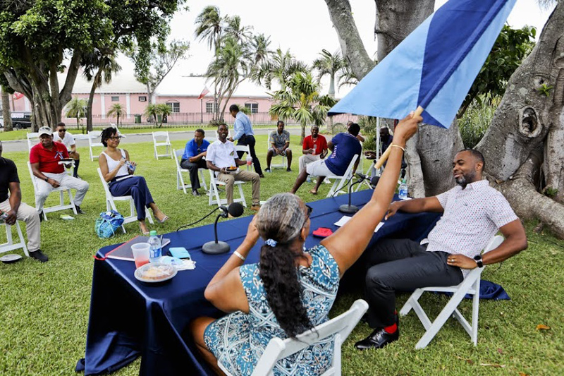 Premier and Minister Meet With Community Clubs Bermuda Aug 2020 (3)