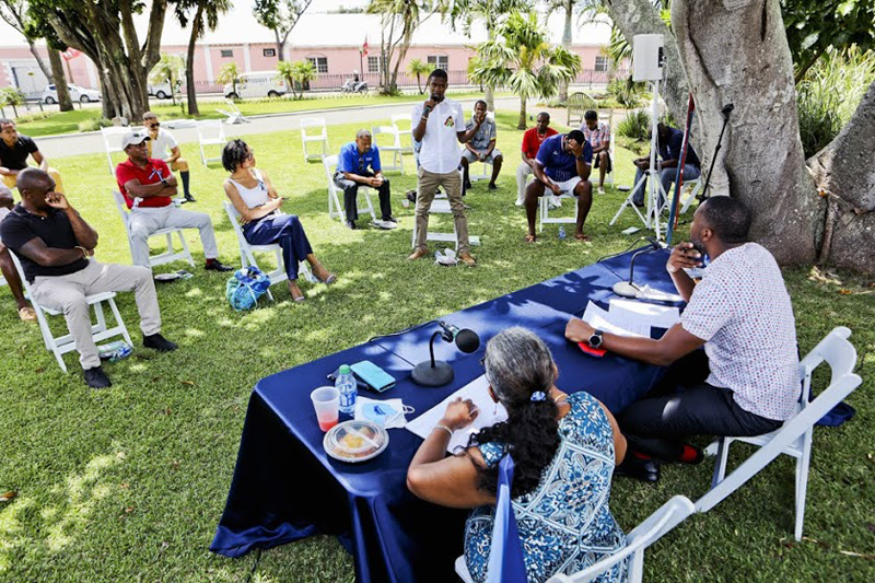Premier and Minister Meet With Community Clubs Bermuda Aug 2020 (5)