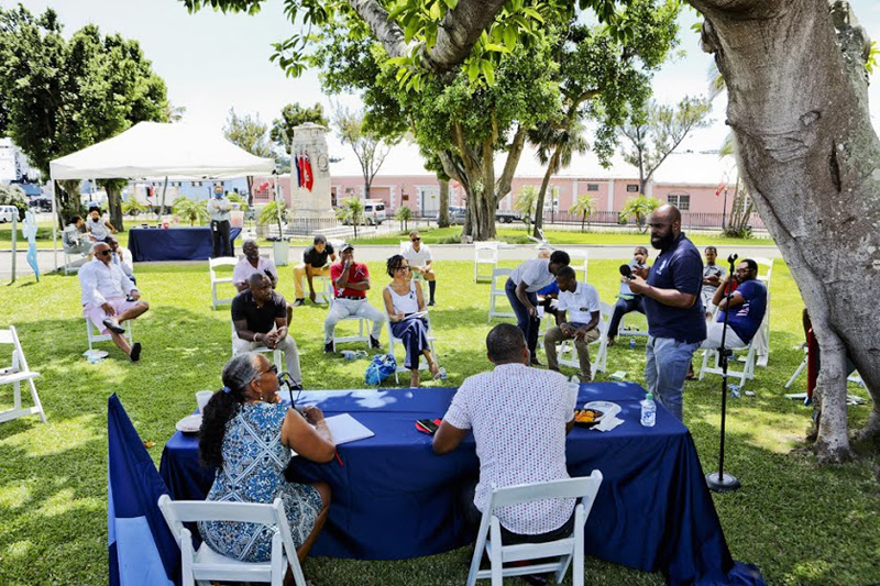 Premier and Minister Meet With Community Clubs Bermuda Aug 2020 (7)