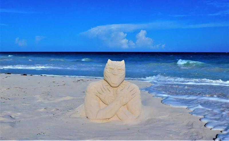 Wakanda Forever Sandcastle Bermuda Aug 2020 1