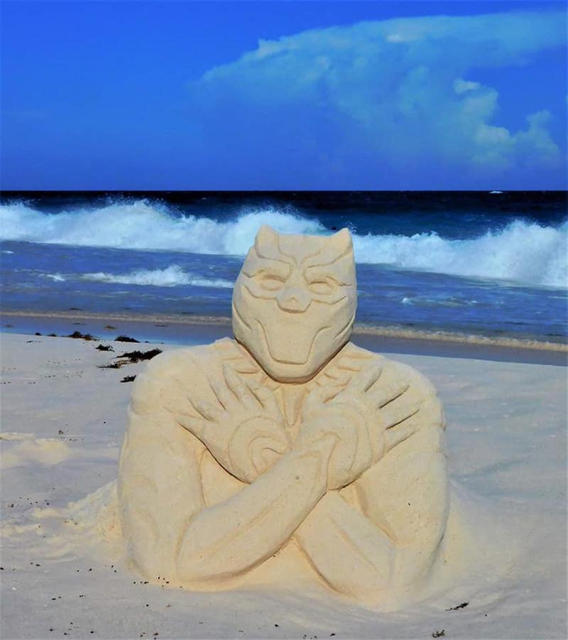 Wakanda Forever Sandcastle Bermuda Aug 2020 2