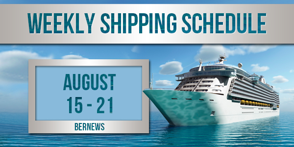 Weekly Shipping Schedule TC Aug 15 - 21 2020