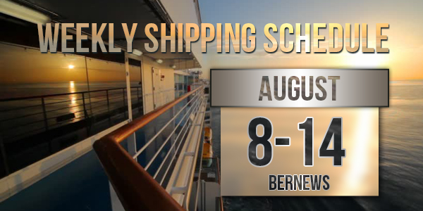 Weekly Shipping Schedule TC Aug 8 - 14 2020