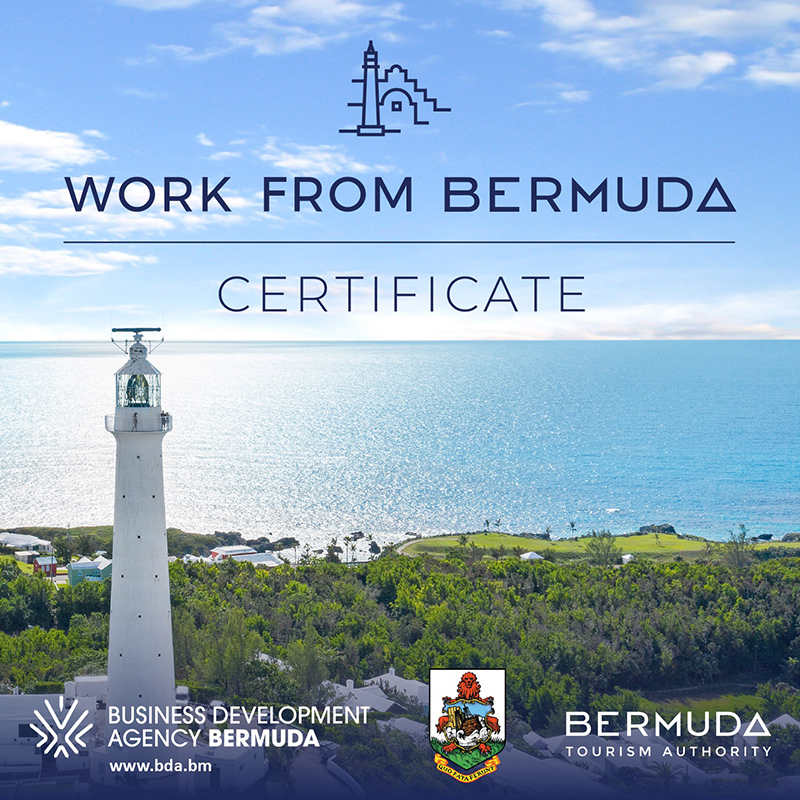 Work From Bermuda Certificate Aug 2020