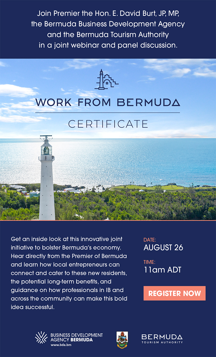 Work from Bermuda Certificate webinar and panel discussion Aug 2020