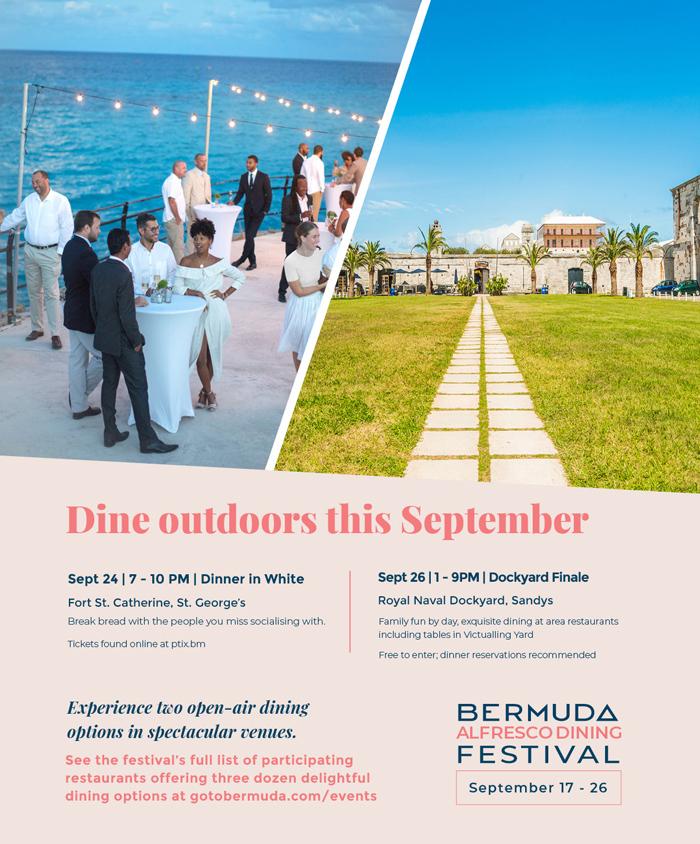 Alfresco Dining Festival Bermuda Sept 2020