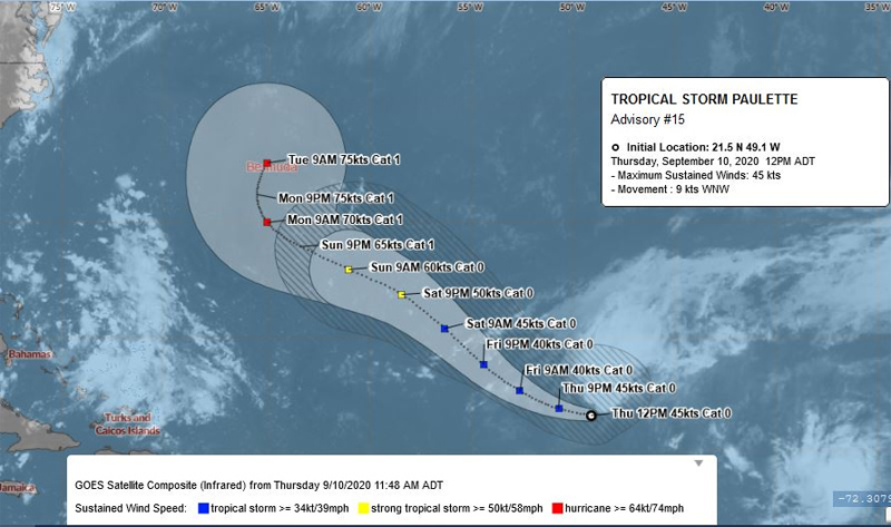 BWS Tropical Storm Paulette Sept 10 2020