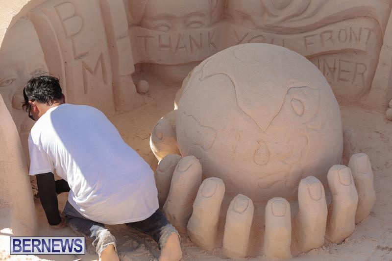 Bermuda Sandcastle Contest at Horseshoe Beach Sept 2020 (13)