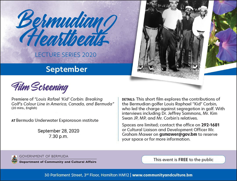 Bermudian Heartbeats lecture series September 2020