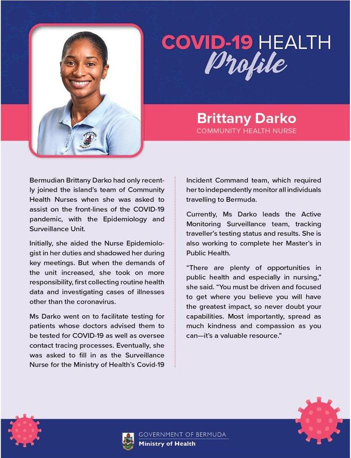 Covid-19 Health Profile Brittany Darko Bermuda Sept 2020