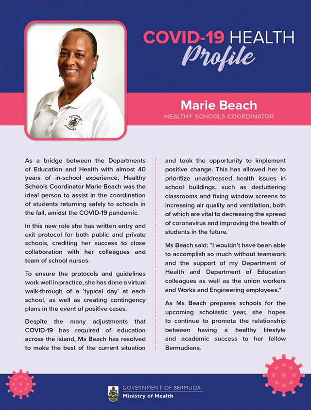 Covid Profile Maria Beach Sept 2020