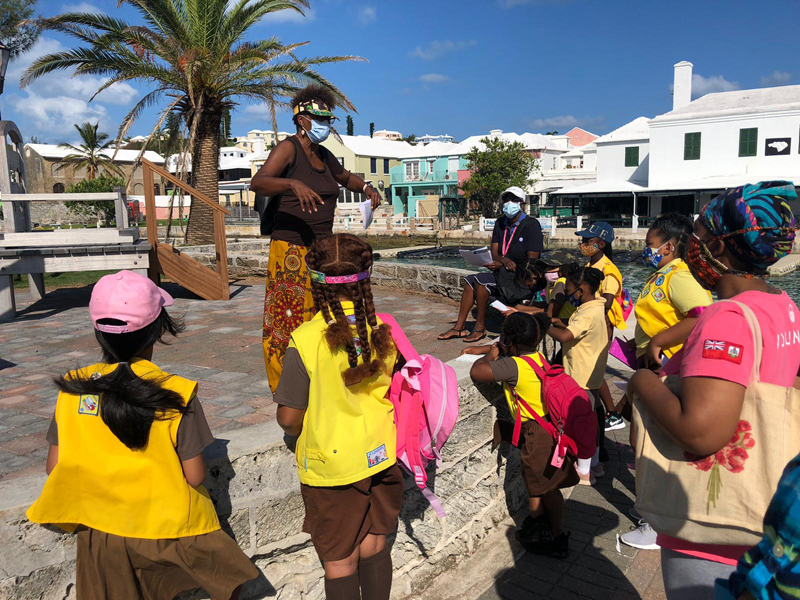 First Devonshire Brownies Historical Field Trip Bermuda Sept 2020 (4)