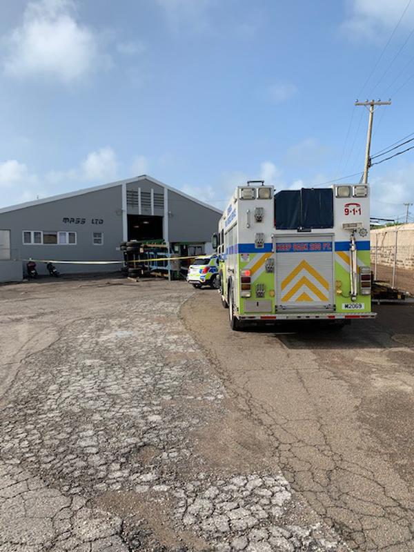 Industrial Accident At Wellington Slip Road Bermuda Sept 2020 (7)