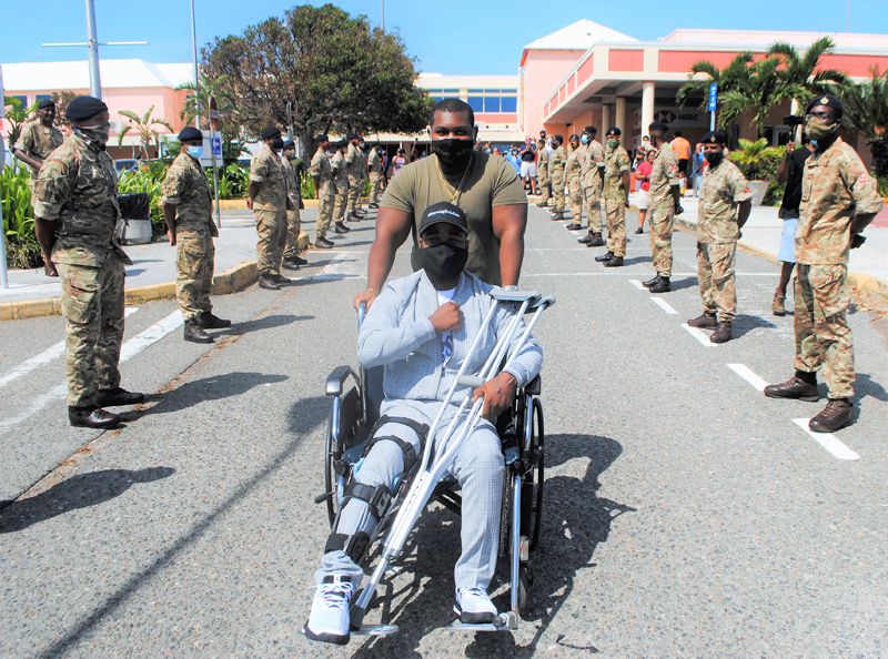 Injured Soldier Comes Home To Hero's Welcome Bermuda Sept 2020 (1)