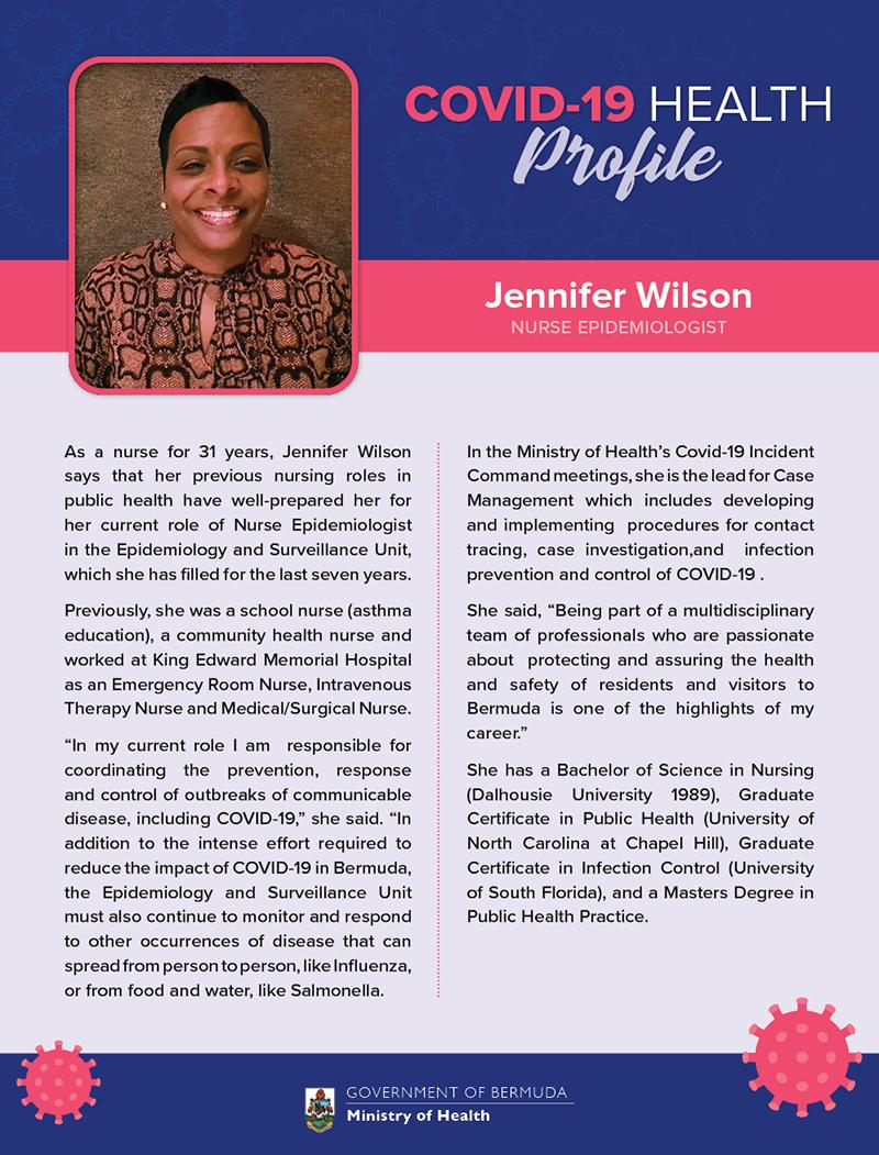 Jennifer Wilson Bermuda Sept 2020