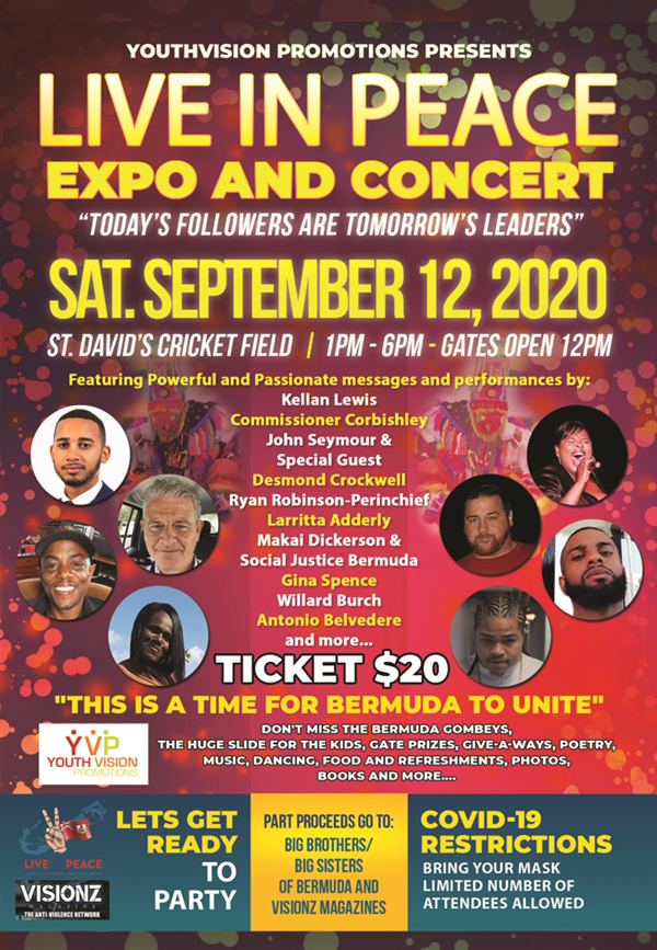 Live In Peace Expo & Concert Bermuda Sept 2020