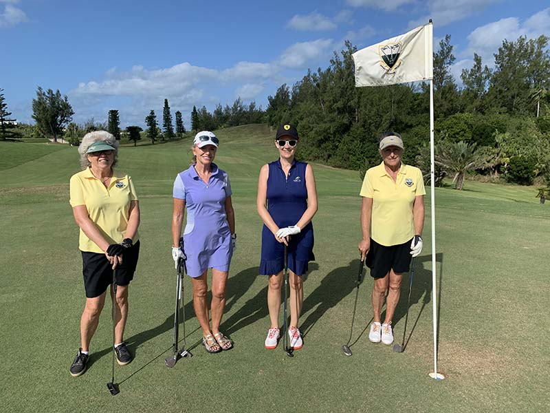Ocean View Governors Cup Bermuda Sept 2020 1 Ann Mitchell, Gillian Campbell, Cara Veale & Wendy Salvia