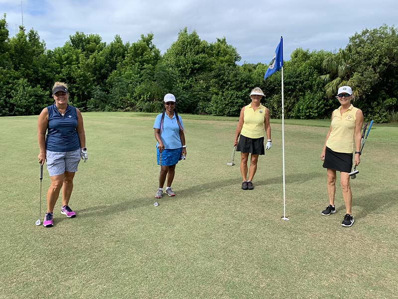 Ocean View Governors Cup Bermuda Sept 2020  11 Tracy Burgess, Thalia Lightbourne , Tracy Nash  & Katrin Burnie
