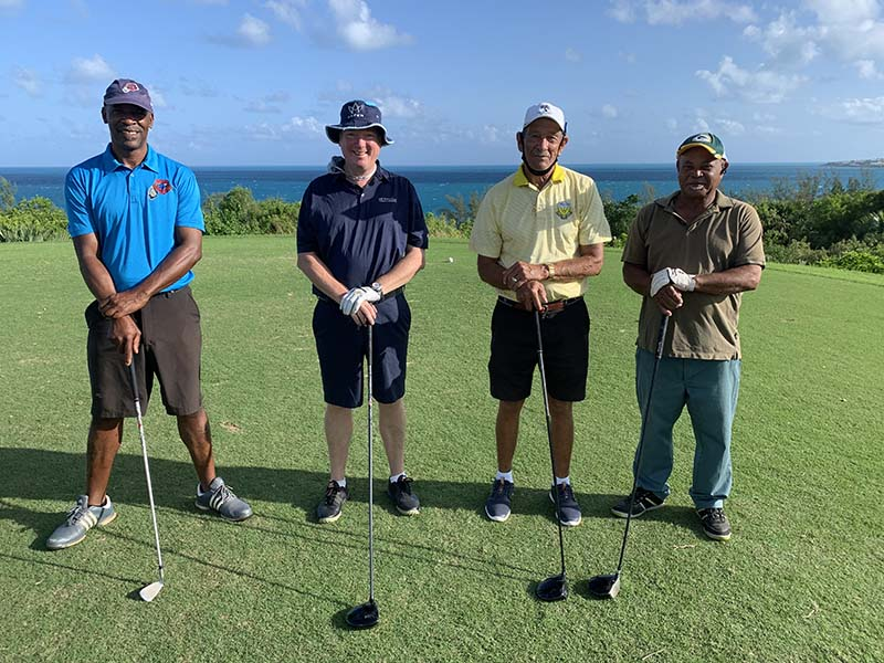 Ocean View Governors Cup Bermuda Sept 2020  12 Vance Hassell, John Blackwood, David Patterson  & Cleeve Trott