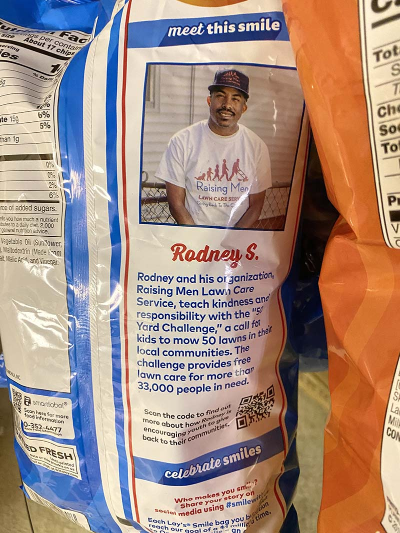 Rodney Smith Jr Lay's Smiles Bags Sept 2020 6