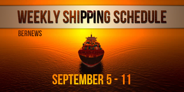 Weekly Shipping Schedule TC Sept 5 - 11 2020