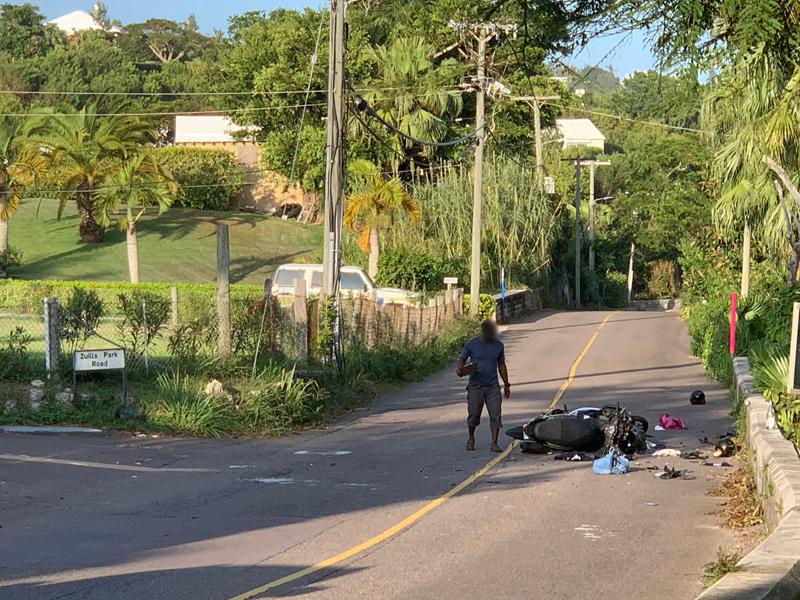 road traffic collision Bermuda Sept 19 2020