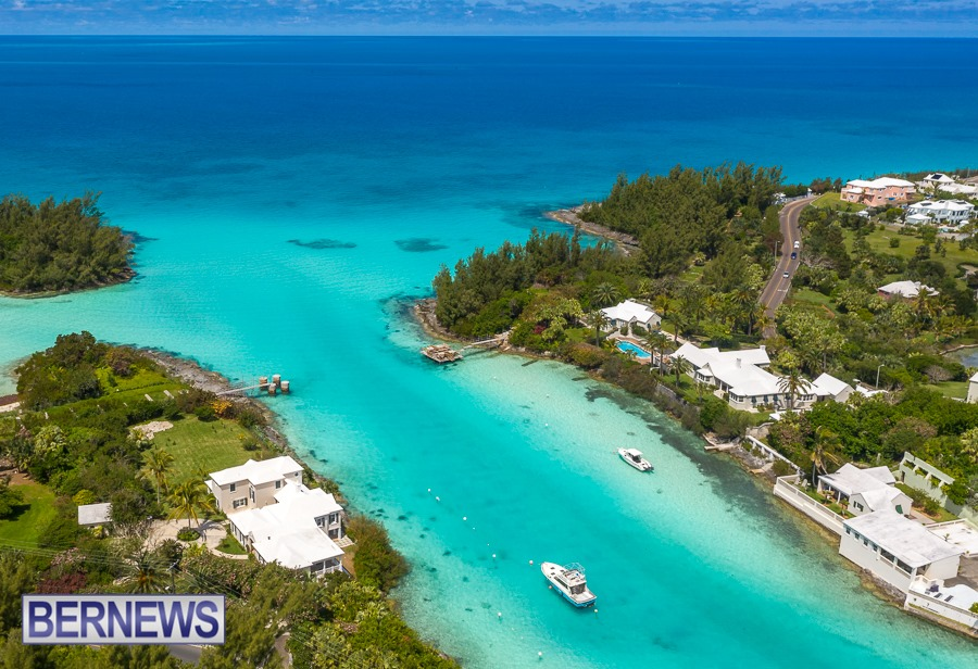 1102 - A gorgeous view over the mouth of Flatts Inlet on a Bermuda-ful blue day