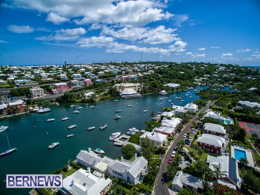 868 - A beautiful day in Bermuda looking towards Waterville and the Foot of the Lane