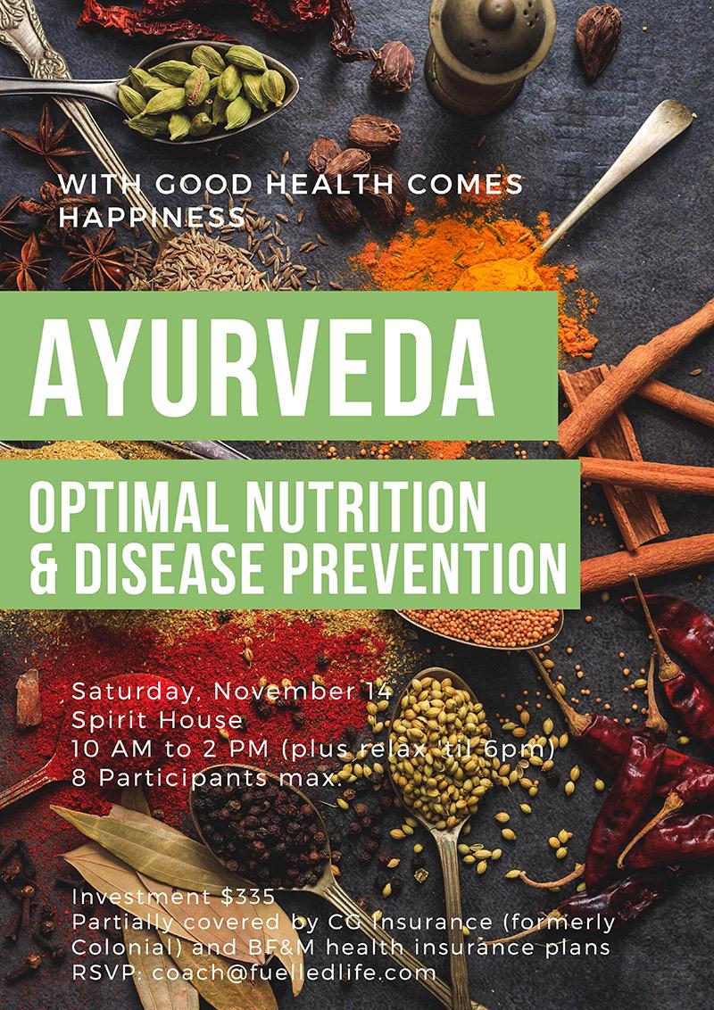 Ayurveda Nutrition Workshop Bermuda Oct 2020