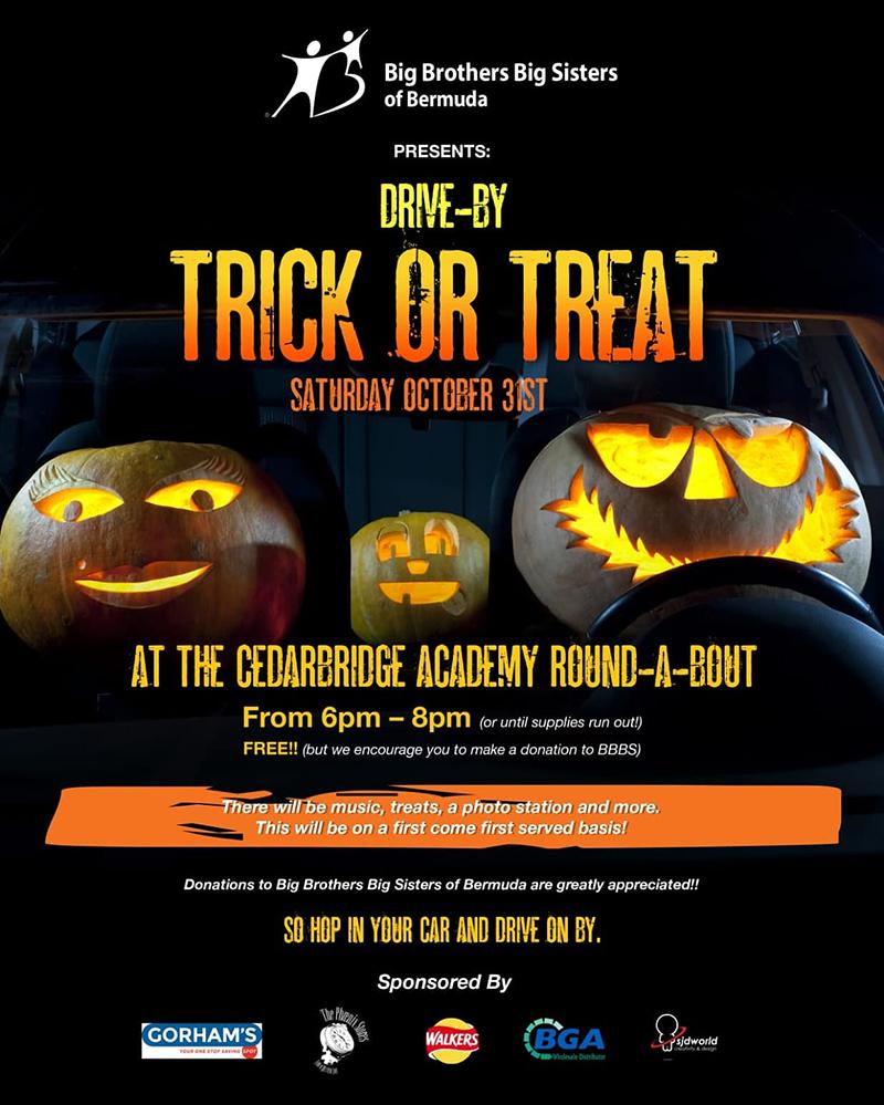 BBBS Drive-By Halloween Bermuda Oct 2020