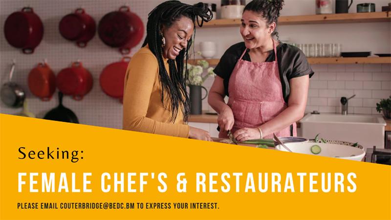 BEDC Seeking Female Chefs & Restaurateurs Oct 2020