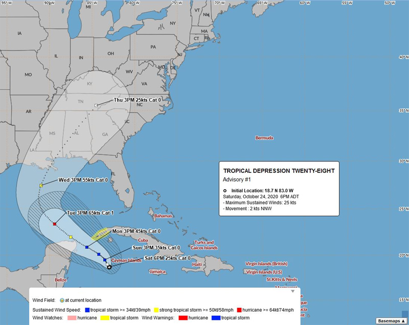 BWS Tropical Depression Twenty Eight Oct 24 2020