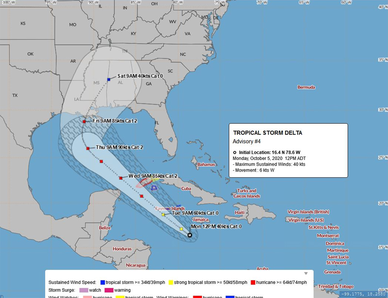 BWS Tropical Storm Delta October 5 2020