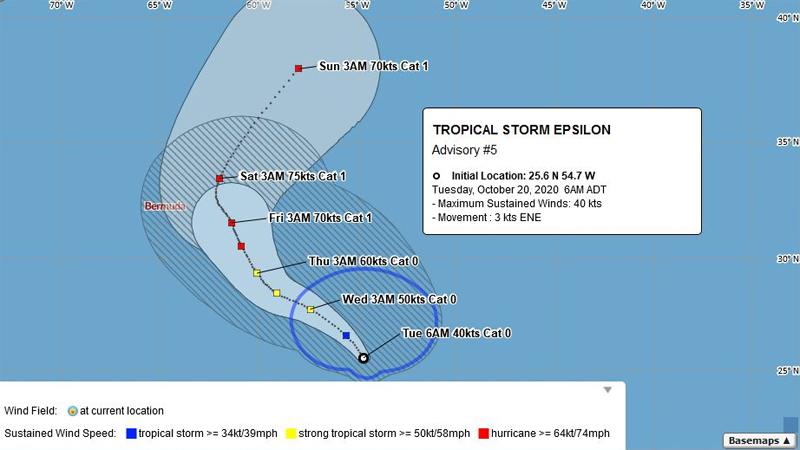 BWS Tropical Storm Epsilon October 20 2020