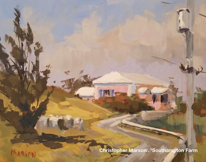 Bermuda Plein Air Christopher Marson . Southampton Farm