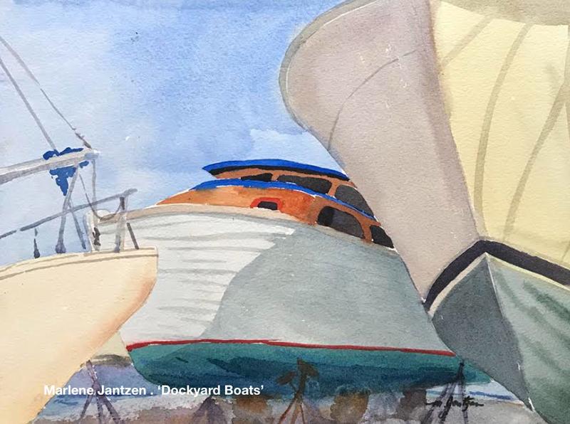 Bermuda Plein Air Marlene Jantzen . 'Dockyard boats'