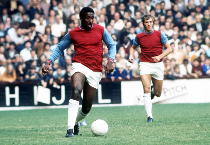 Clyde Best and Billy Bonds in February 1973