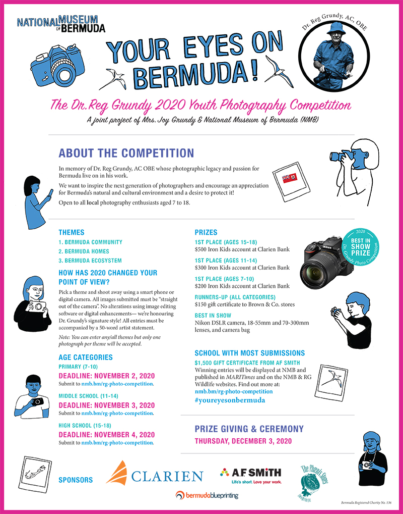 Dr. Reg Grundy Youth Photography Competition Bermuda Oct 2020