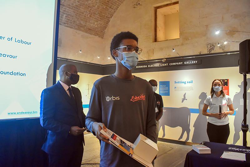 Jeremiah Samuels Receives Certificate Bermuda Oct 2020