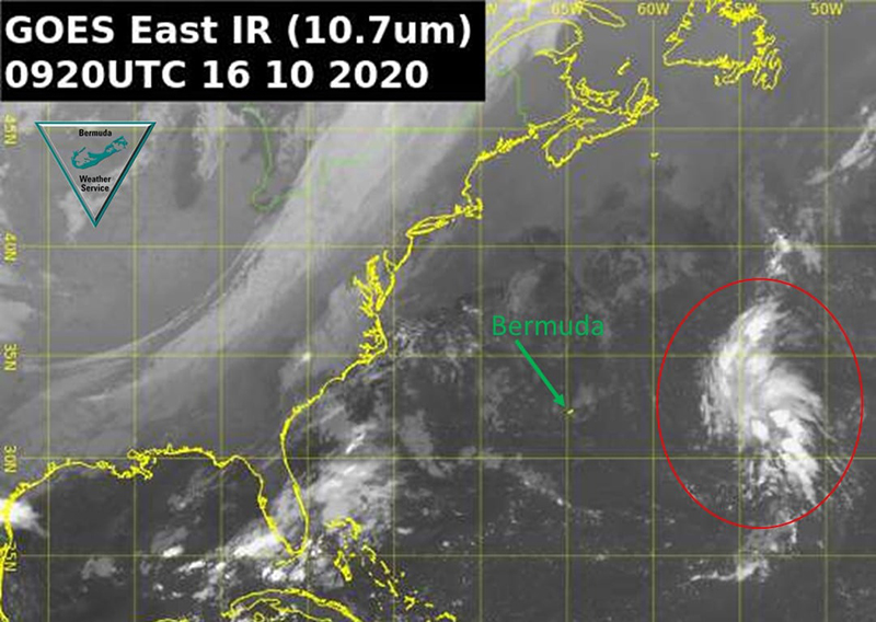 Low Pressure System To Bermuda's East Oct 16 2020