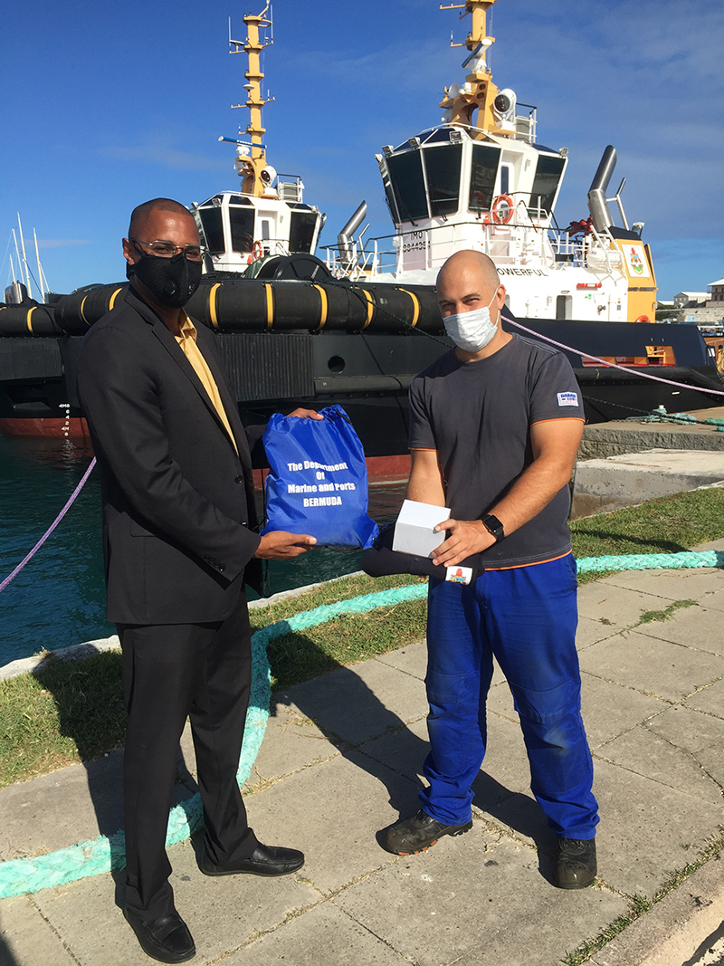 Official Handover Of Two New Tugboats Bermuda Oct 2020 3