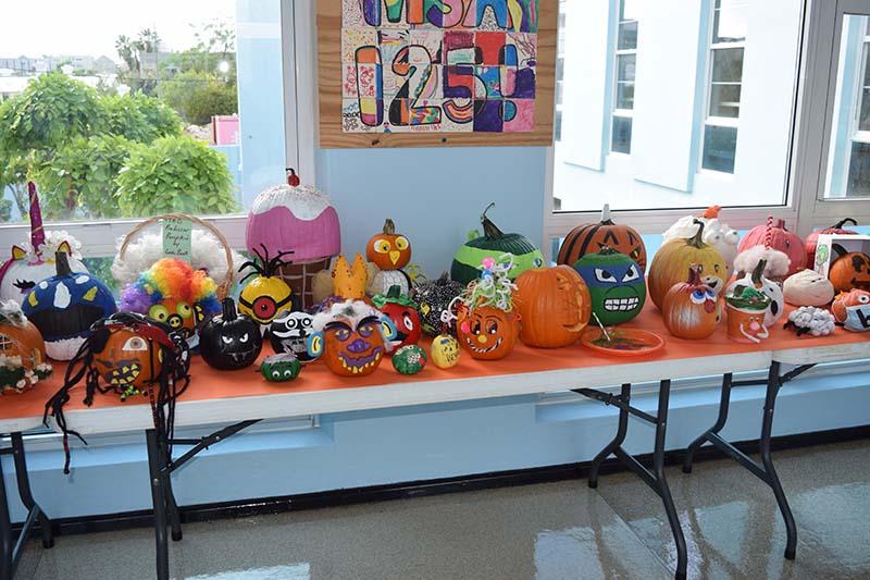 Pumpkin Decorating Display At MSA Bermuda Oct 2020 16