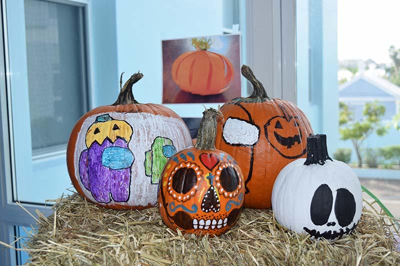 Pumpkin Decorating Display At MSA Bermuda Oct 2020 2