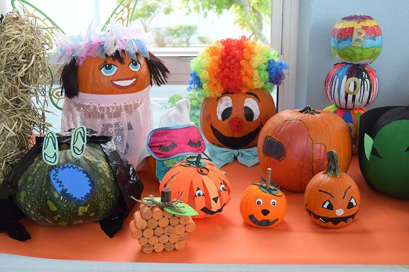 Pumpkin Decorating Display At MSA Bermuda Oct 2020 3