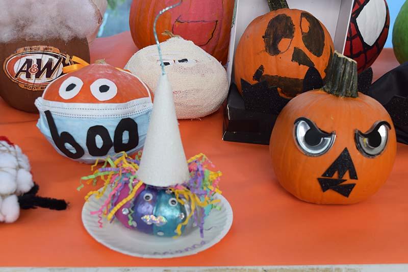 Pumpkin Decorating Display At MSA Bermuda Oct 2020 5