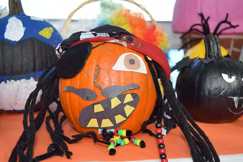 Pumpkin Decorating Display At MSA Bermuda Oct 2020 8