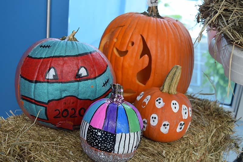 Pumpkin Decorating Display At MSA Bermuda Oct 2020 9