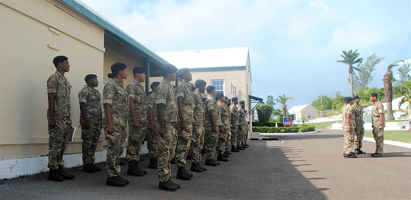 Regiment Bermuda Oct 23 2020 Recruits