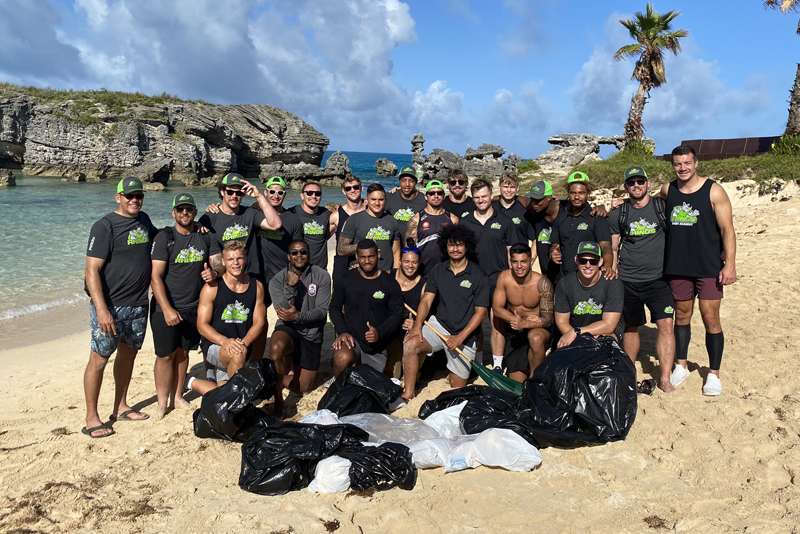 Rhinos Beach Clean Bermuda Oct 2020